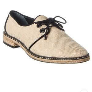 TORY BURCH FAWN CANVAS OXFORD ESPADRILLE size 8